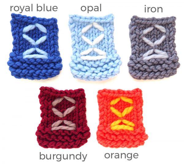 Colours of Skookum Mittens