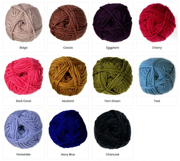 Colours of Superwash Yarn