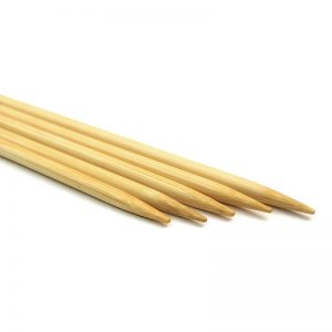 Double-pointed knitting needles - bamboo