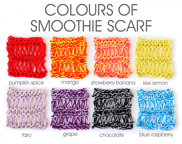 Colours of Smoothie Scarf