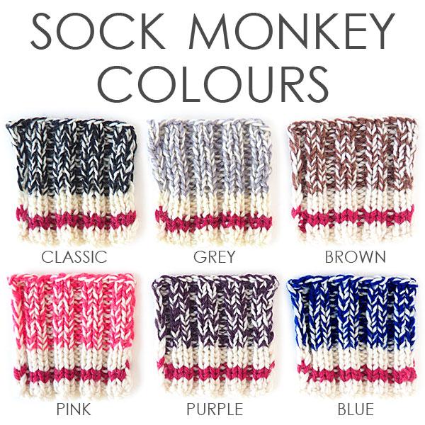 Sock Monkey Colours
