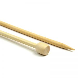 Single-pointed knitting needles - bamboo