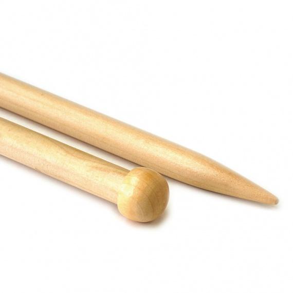 Single-pointed knitting needles - wood