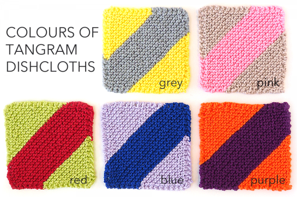Colours of Tangram Dishcloths