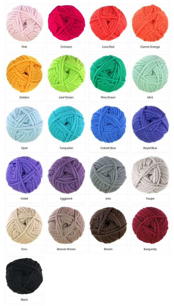 Colours of Chunky Yarn