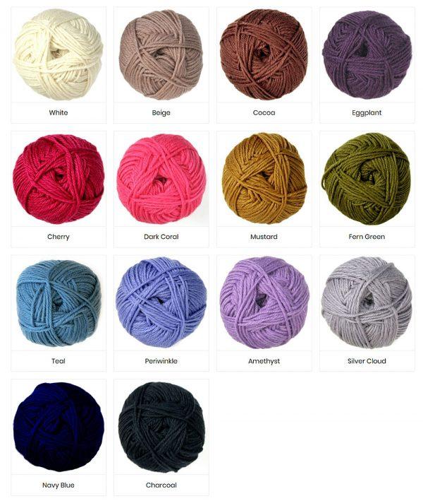 Colours of Merino Yarn